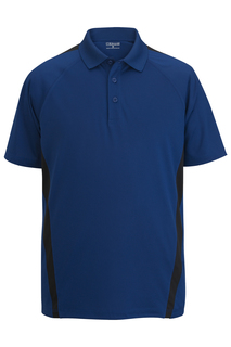 Edwards Mens Snag-Proof Color Block Short Sleeve Polo-Edwards
