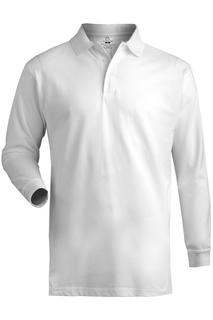 Edwards Blended Pique Long Sleeve Polo