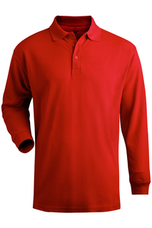 Edwards Blended Pique Long Sleeve Polo-