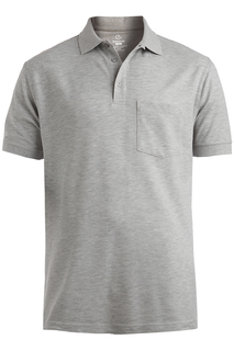 Edwards Cotton Pique Short Sleeve Polo With Pocket-Edwards