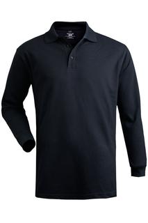 Edwards Cotton Pique Long Sleeve Polo-Edwards