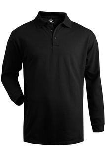 Edwards Cotton Pique Long Sleeve Polo
