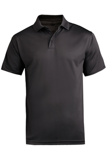 Edwards Hospitality Tops Mens Performance Flat-Knit Short Sleeve Polo-Edwards