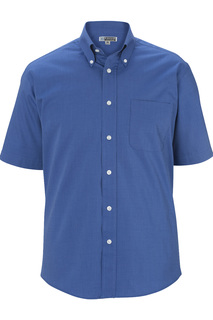Edwards Mens Pinpoint Oxford Shirt - Short Sleeve-