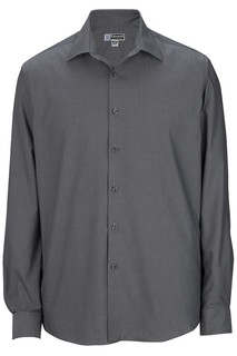 Edwards Mens Oxford Wrinkle-Free Point Collar Dress Shirt-Edwards