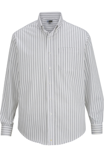 Edwards Mens Double Stripe Dress Poplin Shirt-