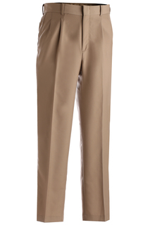 Edwards Mens Washable Wool Blend Pleated Pant-Edwards