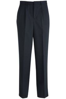 Edwards Mens Pleated Front Poly/Wool Pant-