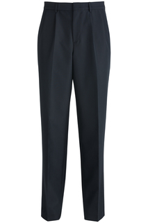 2640 Edwards Mens Pleated Front Poly/Wool Pant-