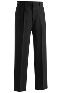 Edwards Mens Lightweight Wool Blend Pleated Pant-Edwards