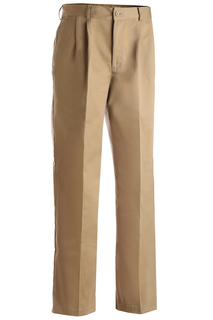 Edwards Mens Blended Chino Pleated Pant-