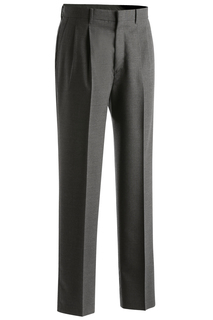 Edwards Mens Wool Blend Pleated Dress Pant-Edwards