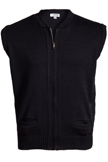 Edwards Full-Zip Acrylic Sweater Vest