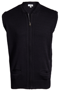 Edwards Full-Zip Heavyweight Acrylic Sweater Vest-Edwards