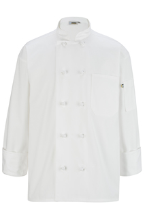 Edwards 10 Knot Button Long Sleeve Chef Coat-