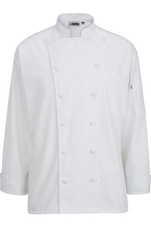 Edwards 12 Cloth Button Classic Chef Coat-