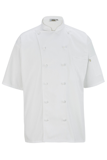 Edwards 12 Button Short Sleeve Chef Coat With Mesh-