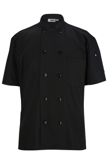 Edwards 10 Button Short Sleeve Chef Coat With Mesh-Edwards