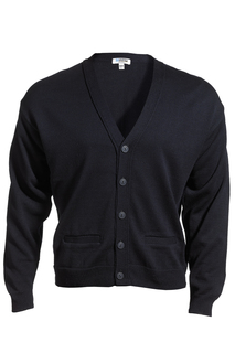 Edwards V-Neck Button Acrylic Cardigan Sweater-2 Pockets-
