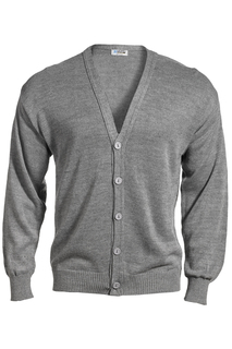 Edwards V-Neck Button Acrylic Cardigan Sweater-