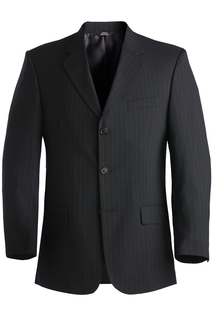 Edwards Mens Pinstripe Suit Coat-Edwards