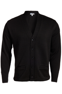 Edwards V Neck Heavyweight Acrylic Cardigan With Pockets-Edwards