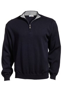 Edwards Quarter-Zip Acrylic Sweater-Edwards