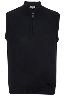 Edwards Quarter-Zip Acrylic Sweater Vest-Edwards
