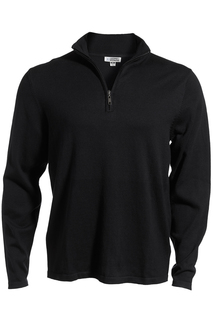 Edwards Quarter Zip Fine Gauge Sweater-Edwards