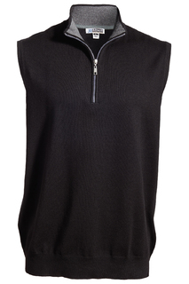 Edwards Quarter Zip Fine Gauge Sweater Vest-
