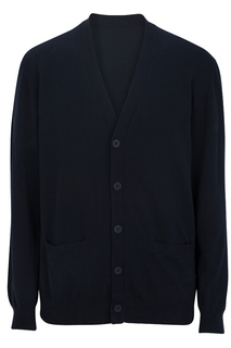 Edwards V-Neck Cotton Blend Cardigan-2pockets-