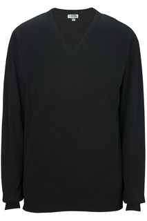 4090 Fine Gauge V-Neck Sweater-Edwards