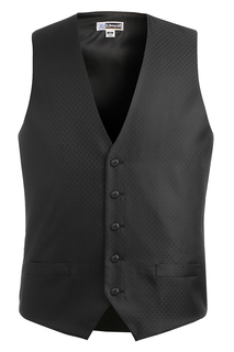 Edwards Front of the House wear for Hospitality & Corporate- Mens Diamond Brocade Vest-Edwards
