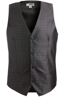 Edwards Mens Grid Brocade Vest-