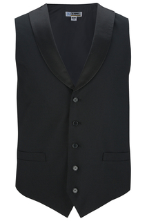 Edwards Mens Satin Shawl Vest-