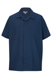 Edwards Mens Zip-Front Service Shirt
