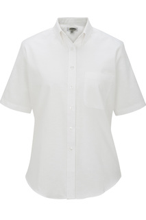 Edwards Hospitality Shirts, Blouses, Polos & Camps Ladies Short Sleeve Oxford Shirt-Edwards
