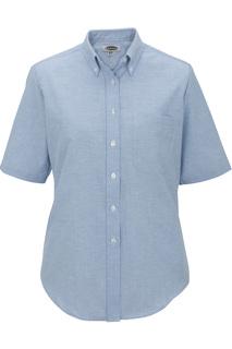 Edwards Ladies Short Sleeve Oxford Shirt