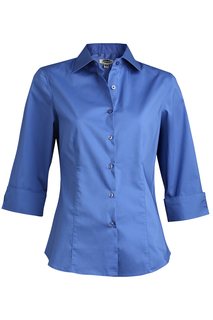 Edwards Ladies Tailored Full-Placket Stretch Blouse-Edwards