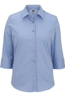 Edwards Ladies Easy Care Poplin Blouse - 3/4 Sleeve-Edwards
