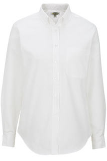 Edwards Hospitality Shirts, Blouses, Polos & Camps Ladies Long Sleeve Oxford Shirt-Edwards