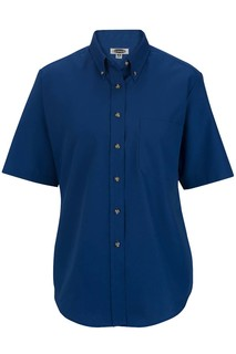 Edwards Ladies Easy Care Short Sleeve Poplin Shirt-