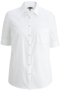 Edwards Corporate Hospitality Tops FRONT OF THE HOUSE Ladies S/S Stretch Poplin Blouse-Edwards
