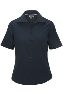 Edwards Ladies Lightweight Short Sleeve Poplin Blouse-