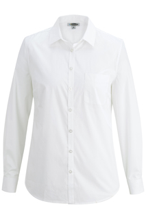Edwards Ladies L/S Stretch Poplin Blouse-