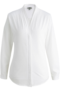Edwards Ladies V-Neck Ls Blouse-Edwards