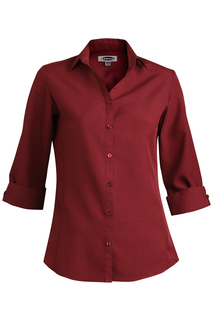 Edwards Corporate Hospitality Tops FRONT OF THE HOUSE Ladies Batiste 3/4 Sleeve Blouse-Edwards