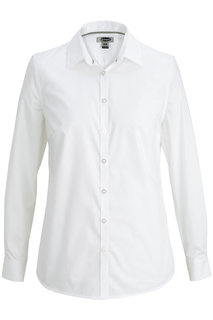 Edwards Corporate Hospitality Tops FRONT OF THE HOUSE Ladies L/S Stretch Broadcloth Blouse-Edwards