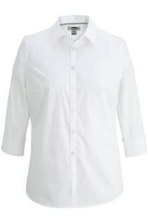 Edwards Ladies 3/4 Sleeve Stretch Broadcloth Shirt-Edwards