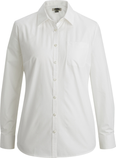 Edwards Ladies Essential Broadcloth Shirt Long Sleeve-